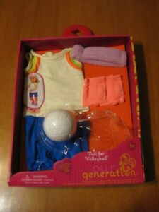 "18"" DOLL OUR GENERATION VOLLEYBALL OUTFIT LIKE AMERICAN GIRL"