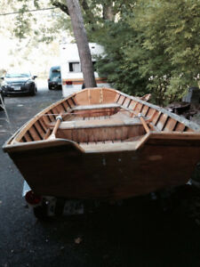 12 foot cedar boat with trailer