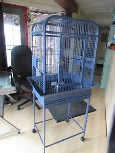 Blue cage on wheels