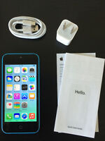 Blue iPhone 5c,32GB.APPLE CARE+ WARRANTY til 2016 November