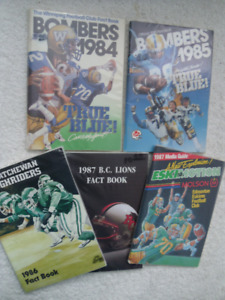 Canadian Football League-Media And Fact Year Books.