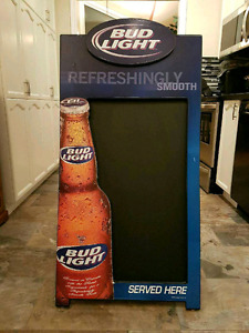 Budweiser Light Two-Sided Chalk Board/Beer Sign