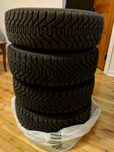 Winter tires WITH rims/wheels: Goodyear Nordic, 195/65/R15