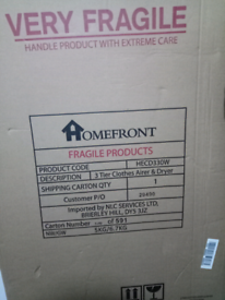 Homefront 3 Tier Electric Clothes Airer and Cover