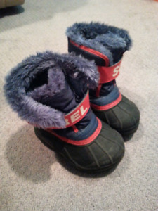 "Sorel ""Snow Commander"" Winter Boots Boys Toddler Size 7"