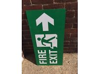 Fire exit sign 3ft long