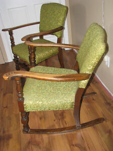 1940's Matching Rocker and Chair Windsor Region Ontario image 5