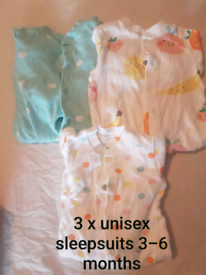 Sleepsuits 3 - 6 months
