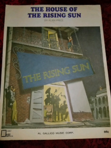 The House of the Rising Sun-by Alan Price - Song Sheet