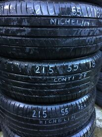 Quality Tyres Liverpool any part worn you need from £15 just call! *215 55 18 £35 fitted *