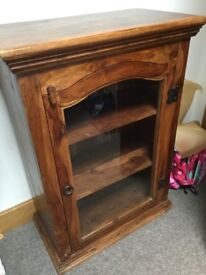 Rosewood glazed small cupboard