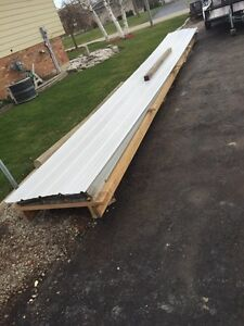Used roof steel for a 30 x 40 shop