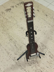 Lap Steel Guitar with Stand, Case and Upgraded Pick Up!