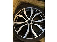 "19"" vw golf gtd santiago alloy with tyre (genuine)"