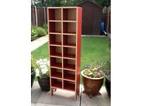 CD Storage Tower - IKEA Robin - Red and Beech colour