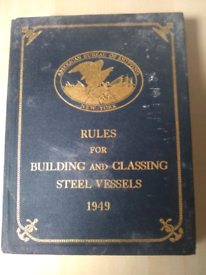 Old ship building book from 1949.