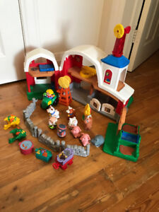 Multiple Sets of Fisher Price Little People - Create a Village