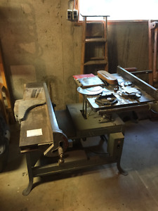 """Rockwell 9"""" Tablesaw w/ General 8""""Jointer"""