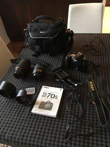 Nikon D70s with lens 70-300mm FULL KIT