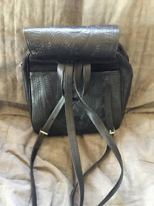 Leather packsack style purse