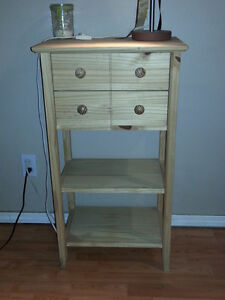 Tall little table with two drawers