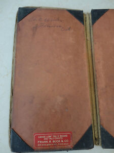 Vintage Leather Belt Sachel Pouch &Vintage Accounting Tally Book Kitchener / Waterloo Kitchener Area image 8