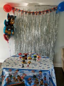 Paw patrol birthday supply