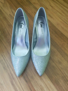 Silver shoes heels. Fiona brand new bridal wear
