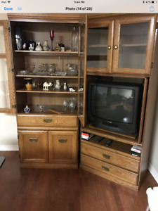 Cabinet and coffee/end tables