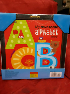 Alphabet wall decor AND book
