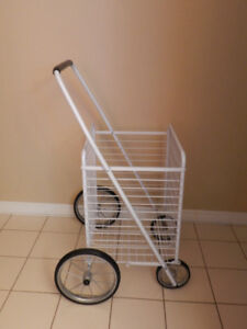 New, Superior quality white folding cart. Very sturdy, excellent