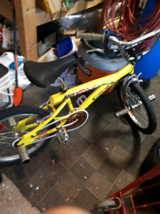 BMX! Yellow and silver!