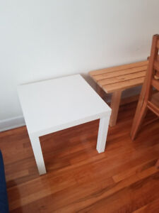 Side table, / Table d'appoint, blanc - LACK