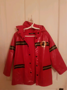 Boys 5T Fireman Rain Jacket Like New