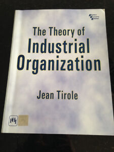 Theory of Industrial Organization by Jean Tirole (2014)