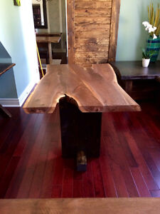 Rustic custom tables, benches, cabinets, barndoors