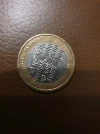 King James Bible £2 coin