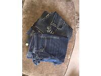 6 pairs of ladies jeans