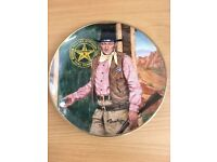 John Wayne limited edition wall plate::: new:::