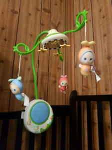 Beautiful barely used crib musical mobile