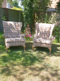 Parker Knoll armchairs (matching pair)