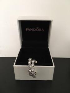 New Never Worn Pandora Half-Hoop Earrings