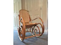 Retro vintage-style bentwood rocking chair