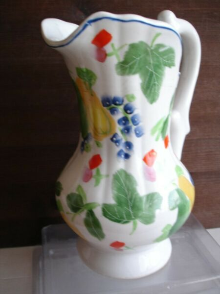 Classical Shaped Hand Painted Fruit Design Chinese Jug