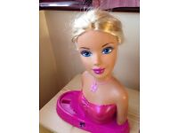 Kids toys for sale (£3-5) - pushchair, vacuum, walking dog and Barbie play head