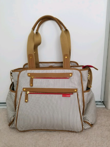Skip Hop Diaper Bag, French Stripe - Like new