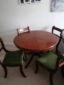 Stag Dining table and 4 chairs