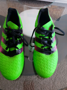 Adidas Men's Ace 16.3 FG Outdoor Soccer Cleats - Green/Pink/Blac