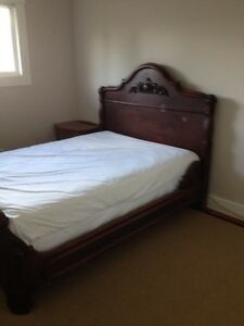 1880 double bed frame mattress and box spring
