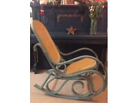 Bentwood Thonet-style vintage rocking chair